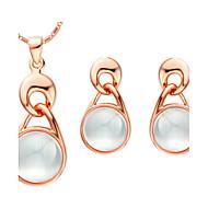 Women's Gold/Silver Jewelry Set Opal