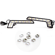 2 * Super Bright White 8 LED huomiovalot Auton huomiovalot Driving Light