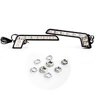 2 * Super Bright White 8 LED DRL corrente di giorno dell'automobile della luce di azionamento