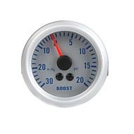 Turbo Boost vakuummåler Meter for auto bil 2 52mm 0 ~ 30in.Hg 0 ~ 20 psi Orange Lys