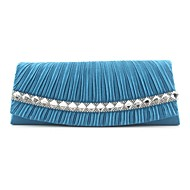 Women Silk Event/Party Evening Bag Beige / Blue / Ivory