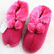Casual Rose Fuzzy Ball Uld Kvinders Slide Slipper