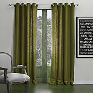 neoclássicos dois painéis sólido sala de estar cortinas painel poli mistura de algodão cortinas