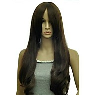 Fashion Long Curly Distribution Type Bang Synthetic Wigs