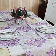 4 Violet Coton mélangé Rectangulaire Sets de table