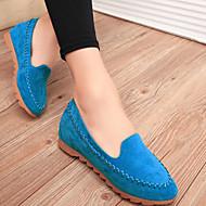 Women's Spring / Summer / Fall / Winter Comfort Suede Office & Career / Dress / Casual Flat Heel Black / Blue / Pink
