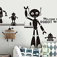 Cartoon Robots Decorative Wall Stickers