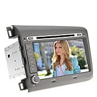 2 DIN 8Inch In-Dash מכונית נגן DVD עבור הונדה סיוויק-(2012) עם GPS, BT, IPOD, RDS, מסך מגע, טלוויזיה