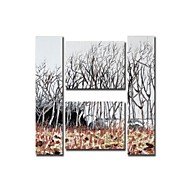 Hand Painted Oil Painting Landscape Littlewoods Painting with Stretched Frame Set of 4
