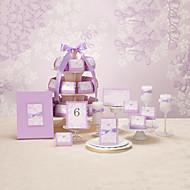 Fantastic Lavender Wedding Collection Set (50 Invitations,50 Favor Boxes,10 Place Cards,1 Guest Book)