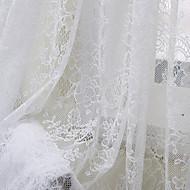 kraj jednym panelu sypialnia kwiatowy botaniczne białe zasłony poliester strome odcienie