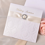 Personalized Wedding Invitation With Gold Ribbon(Set of 50)