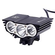 Otsalamput LED 3000 Lumenia 3 Tila Cree XM-L2 T6 Kyllä Ladattava Vedenkestävä Erityiskevyet Kompakti koko Pienikokoiset varten