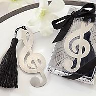 søt hul musikk notat med dusker 8,8 * 3,6 * en metall bokmerker& klipp (sølv, 1 stk)