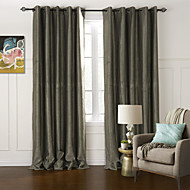 Two Panels Modern Floral / Botanical As Per Picture Living Room Polyester Blackout Curtains Drapes