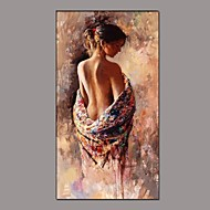 Hand-Painted People Nude Vertical,Classic Traditional One Panel Canvas Oil Painting For Home Decoration