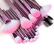 Set di pennelli professionali da trucco, manico rosa, 22 pezzi