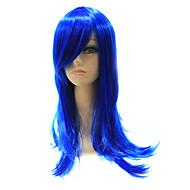 Capless sintético azul Hetero cabelo sintético peruca completa para o partido