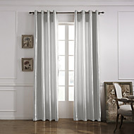 Modern One Panel Solid Grey Living Room Polyester Panel Curtains Drapes