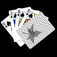 , Személyre szabott ajándékot Maple Leaves mintázatok szürke Playing Card Poker