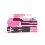 "Sheet Set,4-Piece Microfiber Modern Dots Pink with 12"" Pocket Depth"