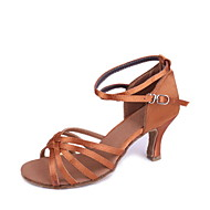 Customized Woman's Satin Classic Five Stripe Cross Dance Shoes For Latin/Ballroom Sandals