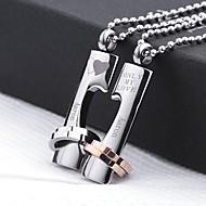 - für Unisex - Halsketten - Edelstahl - Gold / Silber