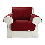 Waterproof Microsuede Solid Cube Quilting Chair Cover