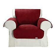 waterdicht microsuède solide kubus quilten stoel cover