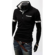 Men's Slim Check Contrast Color POLO T-Shirt