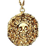 Herre Halskædevedhæng Dødningehoved Legering Bronze Gylden Smykker For Fest Daglig Afslappet Julegaver