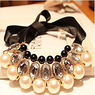 Women's Statement Necklaces Pearl Necklace Jewelry Pearl Silk Festival/Holiday Bridal Jewelry For Wedding Special Occasion Birthday Gift