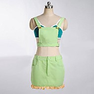 Inspired by Love Live Kotori Minami Anime Cosplay Costumes Cosplay Suits Patchwork Green Sleeveless Top / Skirt