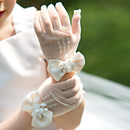 Wrist Length Fingertips Glove Tulle Party/ Evening Gloves / Flower Girl Gloves Spring / Summer / Fall / Winter Bow