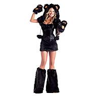 Cute Little Bear Black Fur Women's Halloween Party Costume