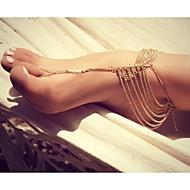 classique alliage glands sweety sandale aux pieds nus (d'or, d'argent) (bijouterie