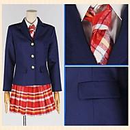 Inspired by Love Live Honoka Kōsaka Anime Cosplay Costumes Cosplay Suits Plaid Red Long Sleeve Coat / Shirt / Skirt
