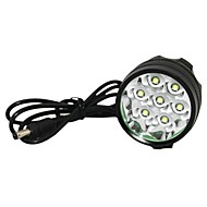 Marsing M70 7 x CREE XM-L T6 de 3 modos de 8000lm WhiteLED Bike Light / Farol - Preto (6 x 18650 incluído)
