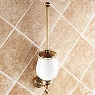 Antique Brass Toilet Brush Holder