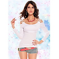 Women's Rhinestone Double-C Buckles Slim T-shirt