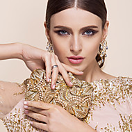 Metal Wedding / Special Occasion Clutches / Evening Handbags with Rhinestones