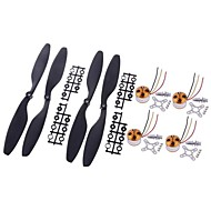 A2212/13T 1000KV Brushless Motor for DJI 330 F450 F550 MWC Multicopter 4pcs with 2 Pairs 10*4.5 Blades