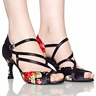 Customized Damen Ankle Strap Satin Latin / Ballroom Dance Schuhe