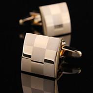 xinclubna® divatos 1.5cm férfi arany réz mandzsettagomb (arany) (1pár)