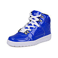 Non Customizable Men's Dance Shoes Hip-Hop/Dance Sneakers Leatherette Flat Heel Black/Blue/Red/White