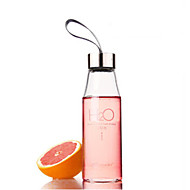 450ml H2O Pattern Glass Water Bottle, L6.5cm x W6.5cm x H20.5cm