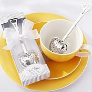 "infuser לב תה נירוסטה ""זמן תה"" בקופסא מתנה אלגנטית בצבע לבנה, w16.5cm xl5cm"