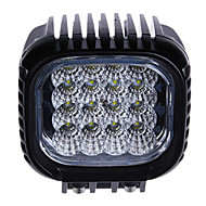 48W(16*3W CREE) 3450LM 6500K Car LED Work Light Waterproof Flood Beam Lamp Boat/Truck Light(DC9-32V)