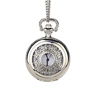 Groom Silver Hollow Engraving Pocket Watch With Gift Box
