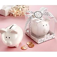 banco de cerdo blanco de cerámica encantador